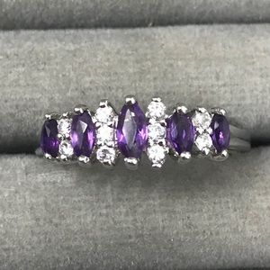 Jewelry - Sterling silver purple stone ring size 11